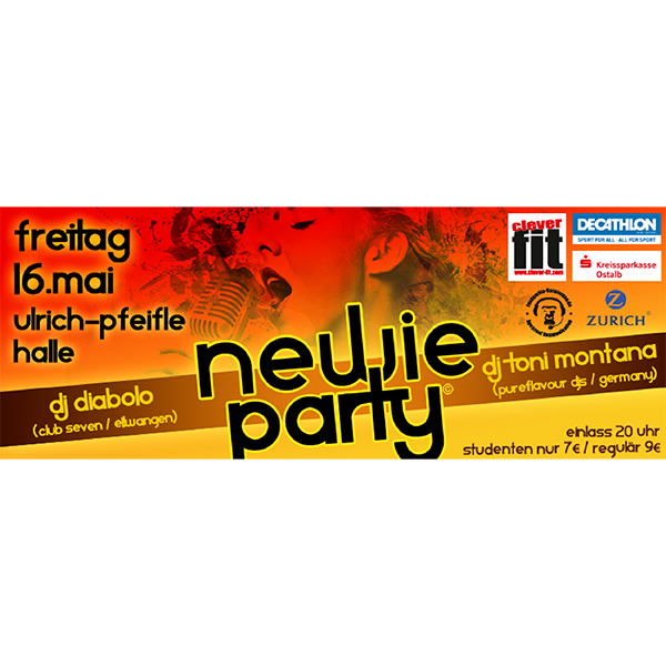 Newie Party – Ulrich Pfeifle Halle 16.05.2014